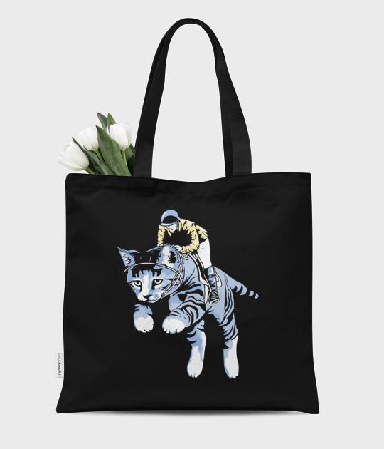 Torba bawełniana premium Cat rider