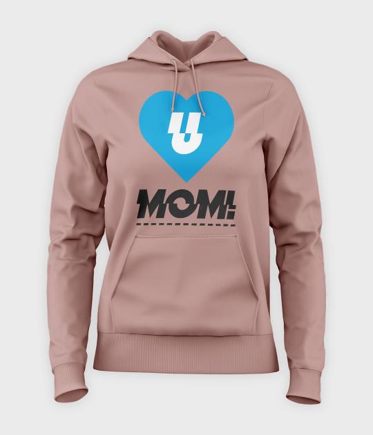 Bluza damska z kapturem Lov U Mom