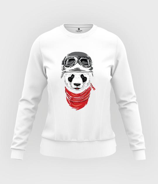 Bluza damska taliowana Panda pilot
