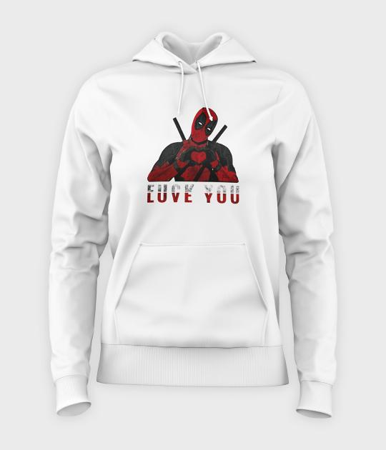 Bluza damska z kapturem Love you