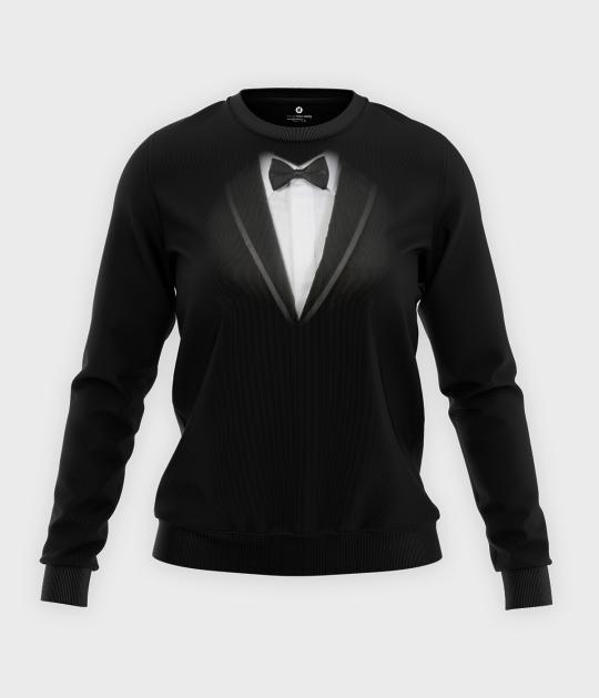 Bluza klasyczna damska Garnitur - muszka