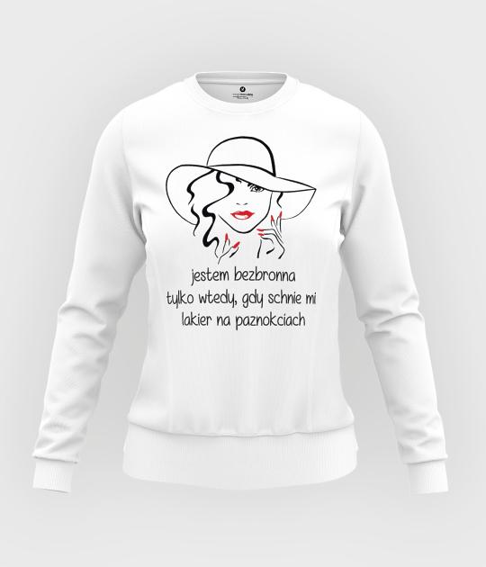 Bluza damska taliowana Jestem bezbronna