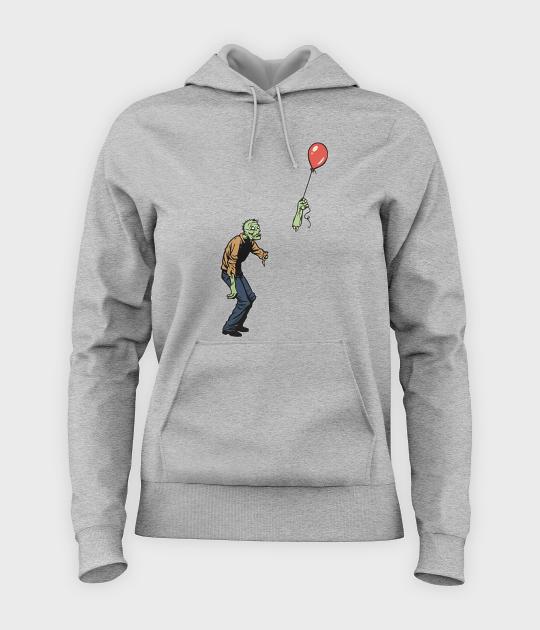 Bluza damska z kapturem Zombie with baloon