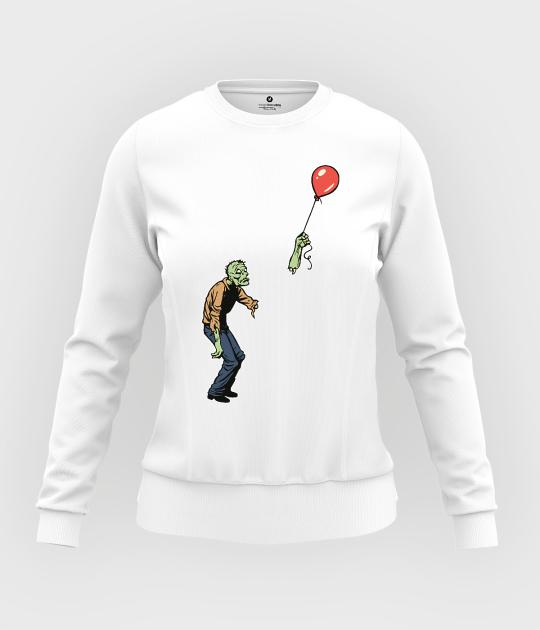 Bluza damska taliowana Zombie with baloon