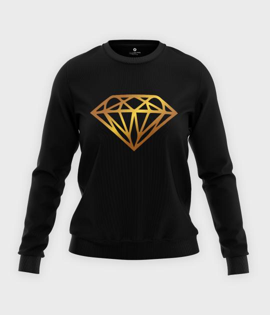 Bluza klasyczna damska Diamond Gold