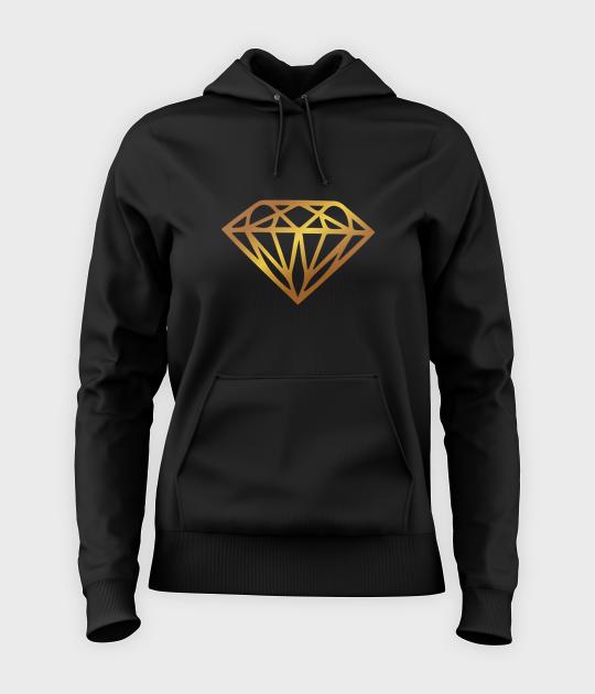 Bluza damska z kapturem Diamond Gold