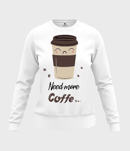 Bluza damska taliowana Need more coffe