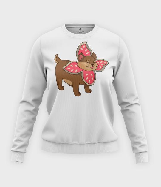 Bluza klasyczna damska Uroczy Pies w przebraniu Demogorgona
