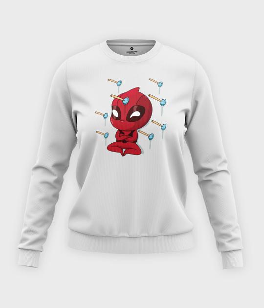Bluza klasyczna damska Cute Deadpool