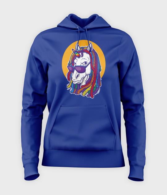 Bluza damska z kapturem Rainbow unicorn