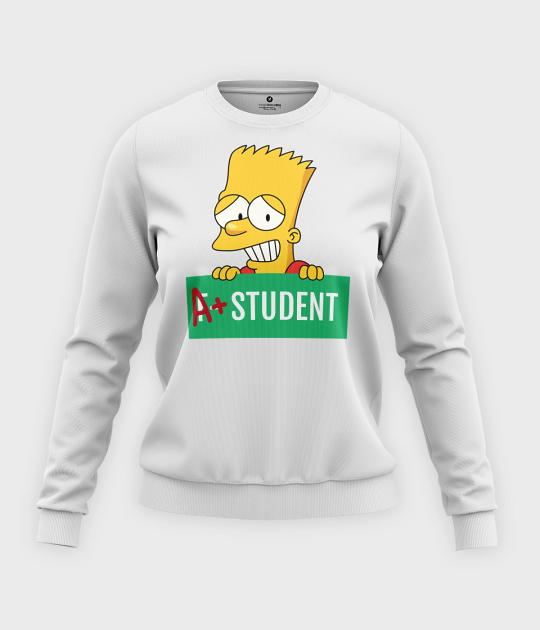 Bluza klasyczna damska Bart Simpson
