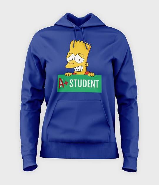 Bluza damska z kapturem Bart Simpson
