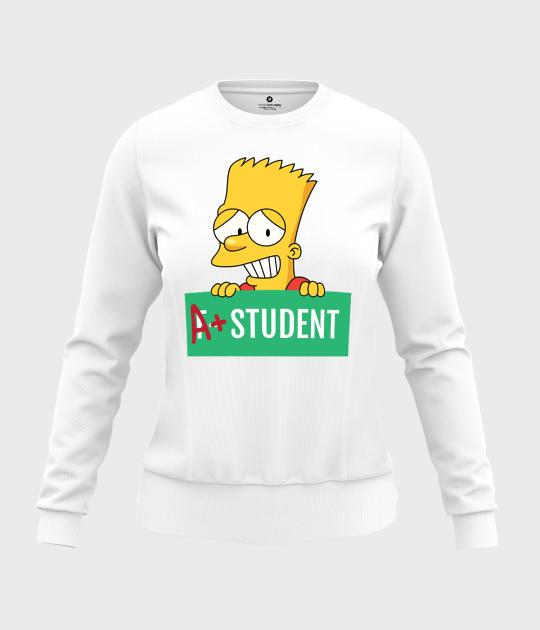 Bluza damska taliowana Bart Simpson