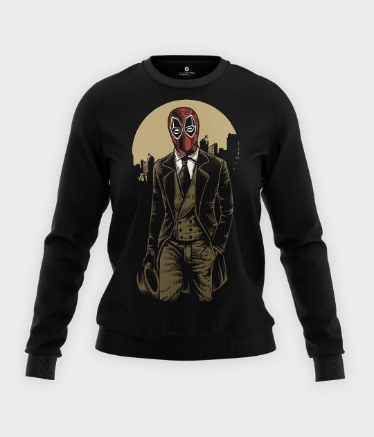 Bluza klasyczna damska Deadpool Gentelman