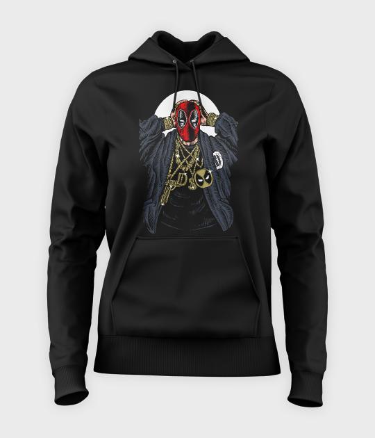 Bluza damska z kapturem Rapper Deadpool