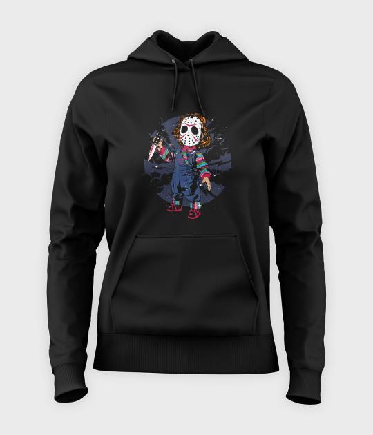 Bluza damska z kapturem Chucky