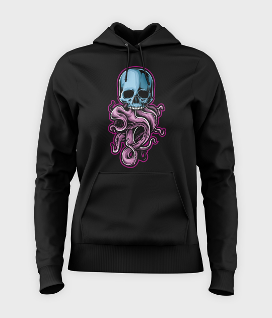 Bluza damska z kapturem Tentacle Skull