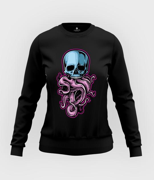 Bluza damska taliowana Tentacle Skull