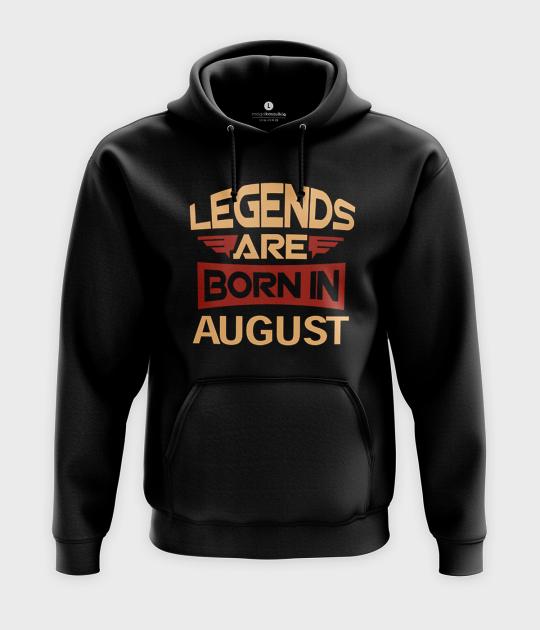 Bluza z kapturem Legends are born in + Twój miesiąc