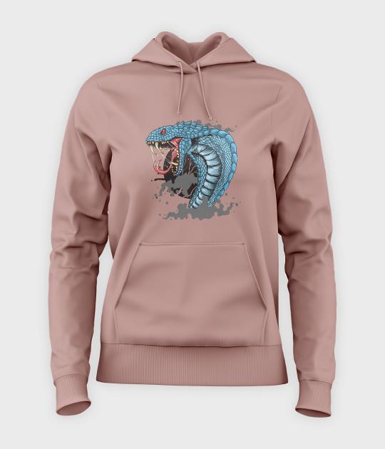 Bluza damska z kapturem Zły wąż