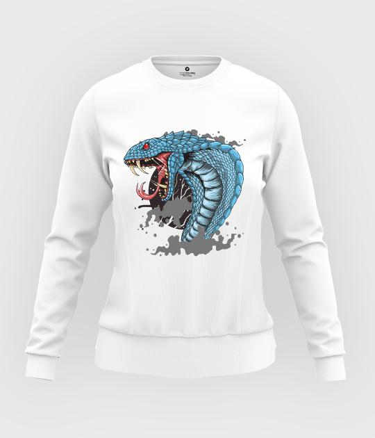 Bluza damska taliowana Zły wąż