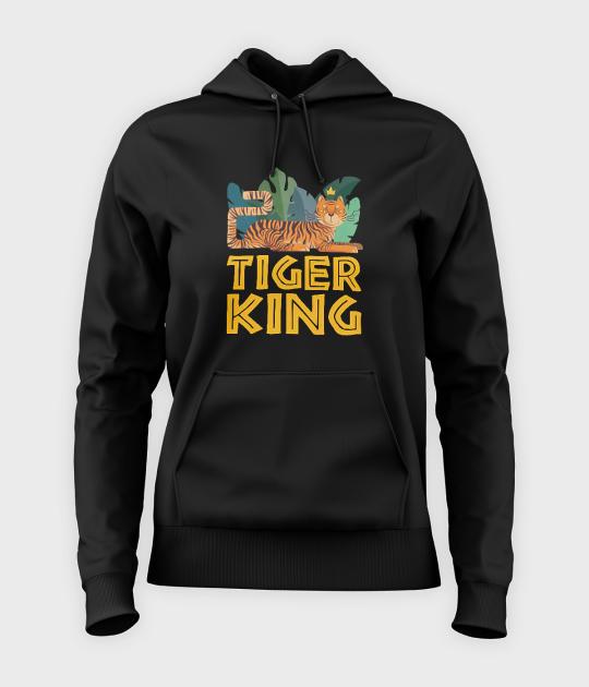 Bluza damska z kapturem Tiger King
