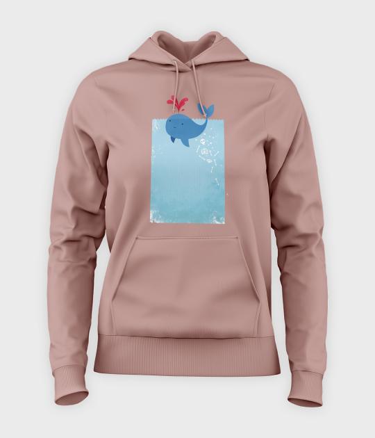 Bluza damska z kapturem Whale Blood