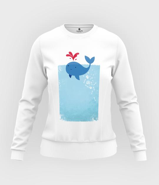 Bluza damska taliowana Whale Blood