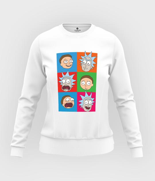 Bluza damska taliowana Emocje Rick and Morty