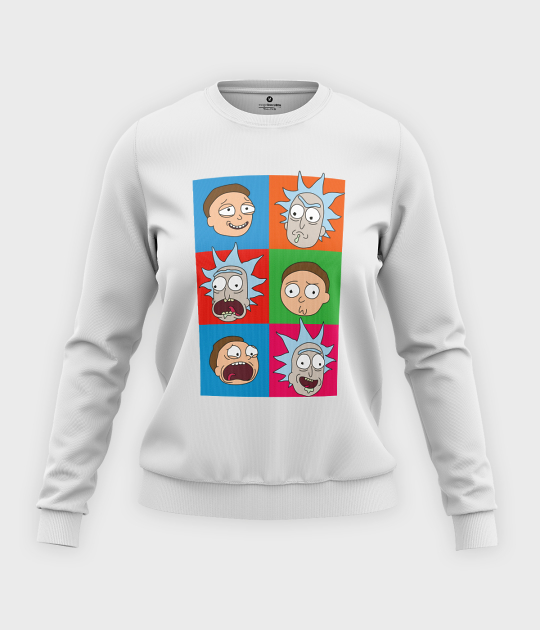 Bluza klasyczna damska Emocje Rick and Morty