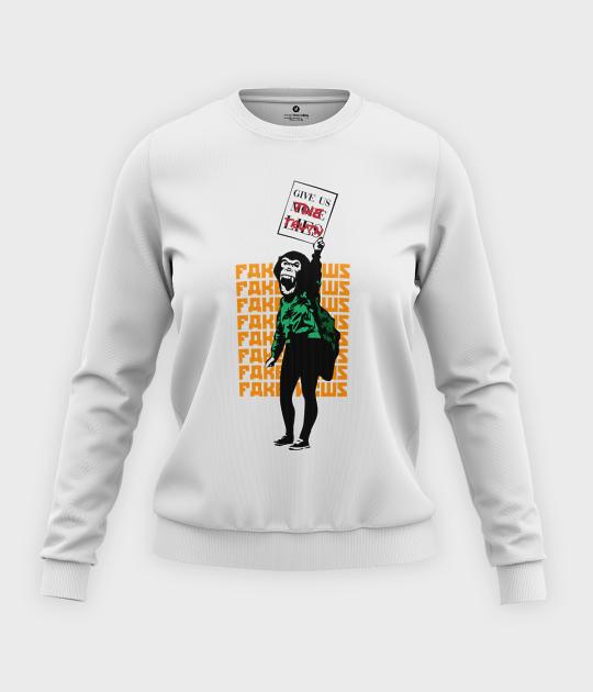 Bluza klasyczna damska Stop Fake News