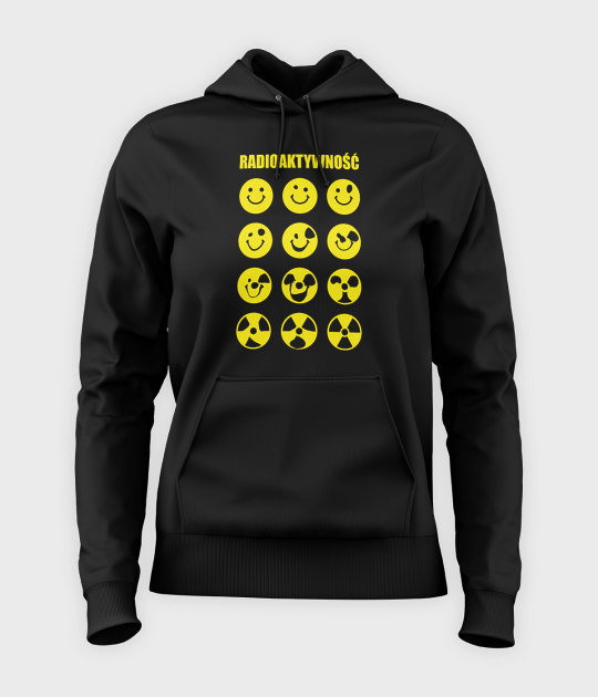 Bluza damska z kapturem Radioaktywność