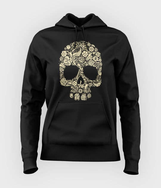 Bluza damska z kapturem Flower Skull