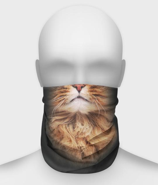 Komin na twarz fullprint z kotem