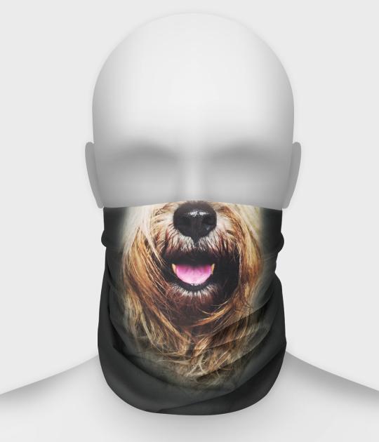 Komin na twarz fullprint z psem 2