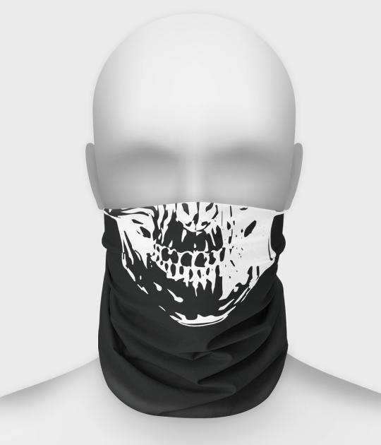 Komin na twarz fullprint z czaszką