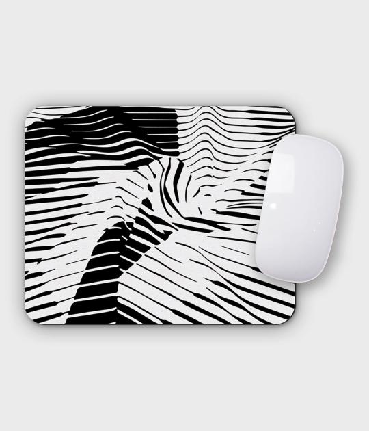 Podkładka pod mysz pozioma - mała Zebra Wave