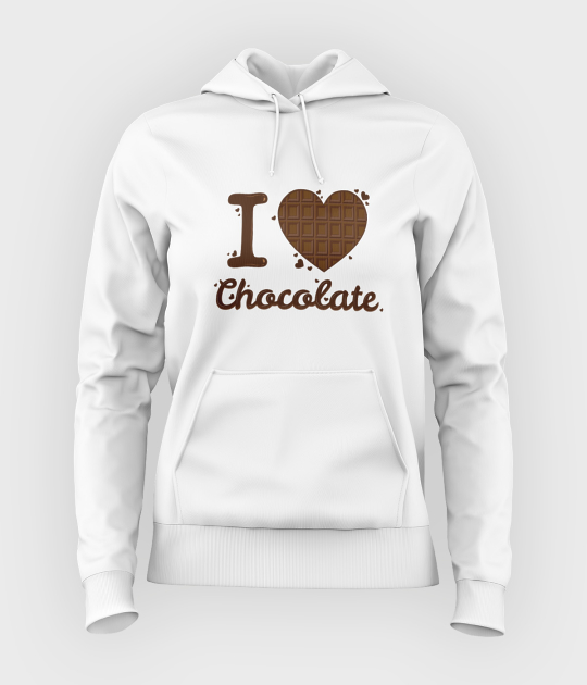 Bluza damska z kapturem I love chocolate 2