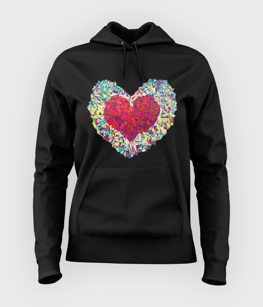 Bluza damska z kapturem Colorful Heart
