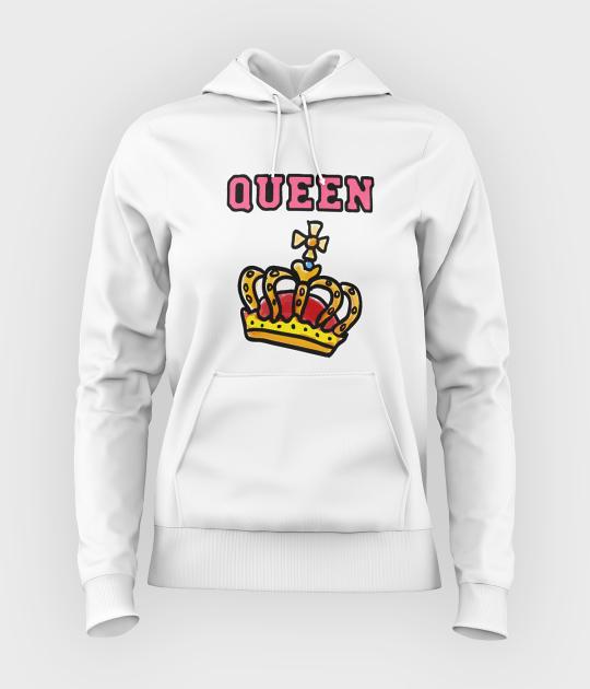 Bluza damska z kapturem Queen