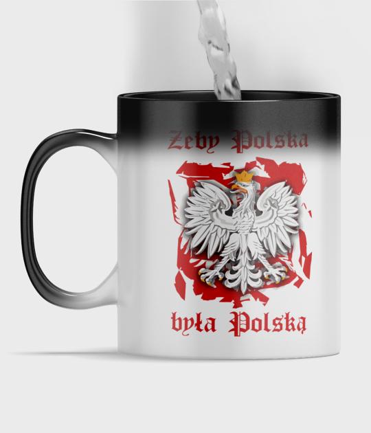 Kubek magiczny full print Żeby Polska była Polską