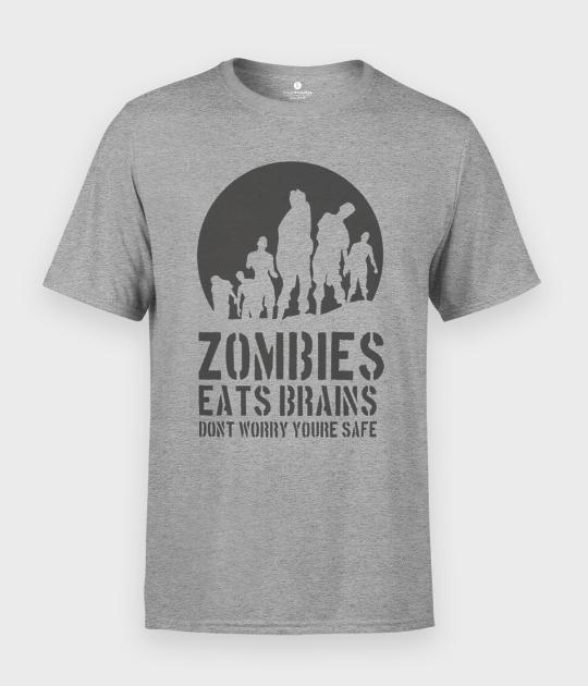 Koszulka męska Zombie jedzą mózgi