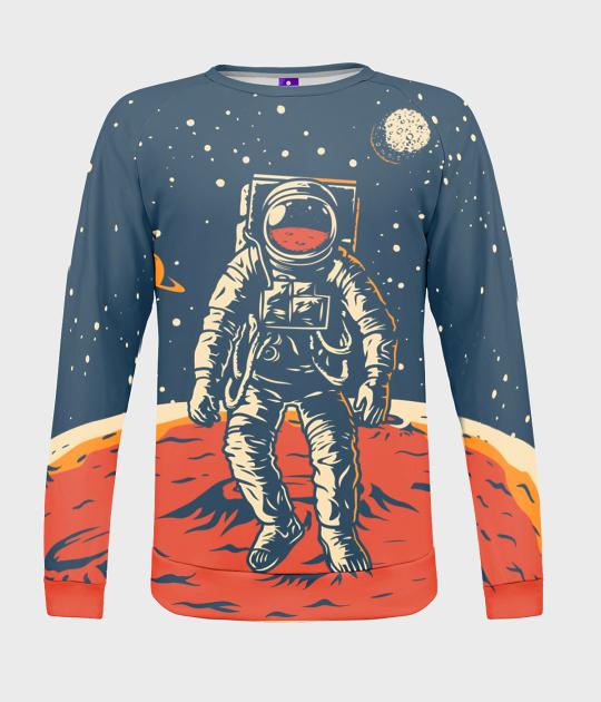 Bluza damska fullprint Astronauta