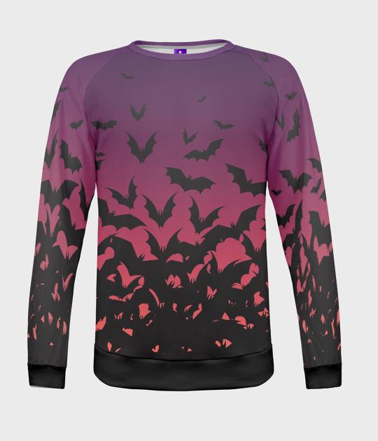 Bluza damska fullprint Bat Swarm