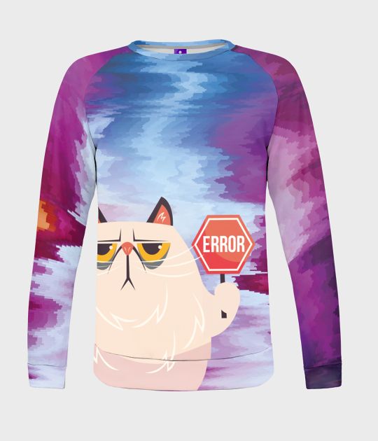 Bluza damska fullprint Error Cat