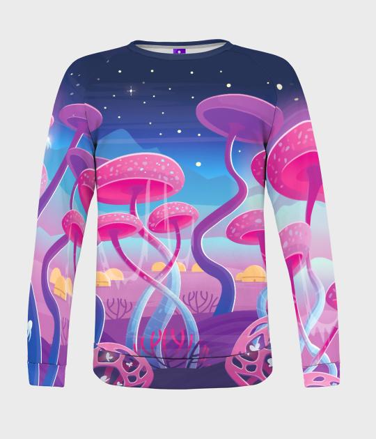 Bluza damska fullprint Magic Mushrooms