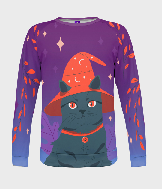 Bluza damska fullprint Magiczny Kot