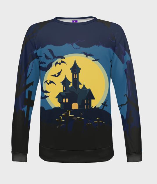 Bluza damska fullprint Spooky Mansion