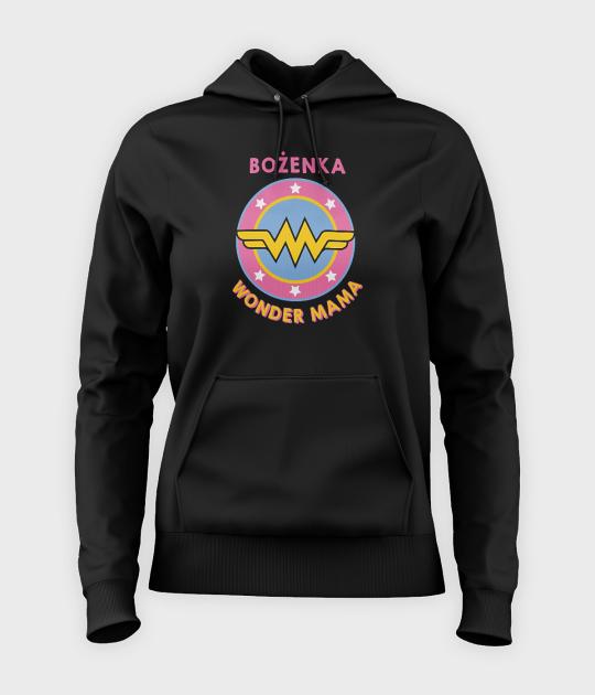 Bluza damska z kapturem Wonder Mama + Imię
