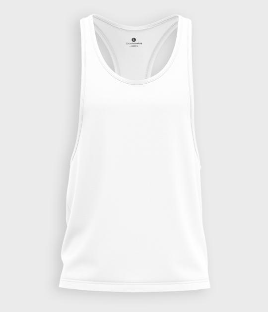 Męski tank top muscle (bez nadruku, gładki) - biały